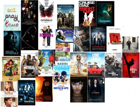 [collage image of movie posters for Summer of 2010]