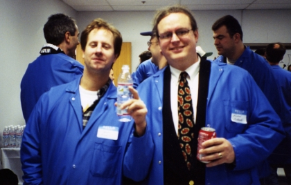 TiVo Blue Moon Celebration, March 31, 1999, with Stephen Mack and Richard Bullwinkle in the foreground, and Bob Vallone and Tony Dicroce in the background