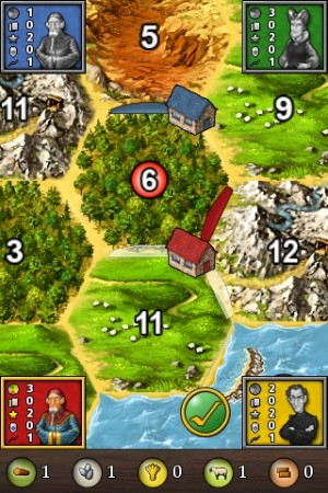Screenshot of Apple iPhone app 'Catan - The First Island'