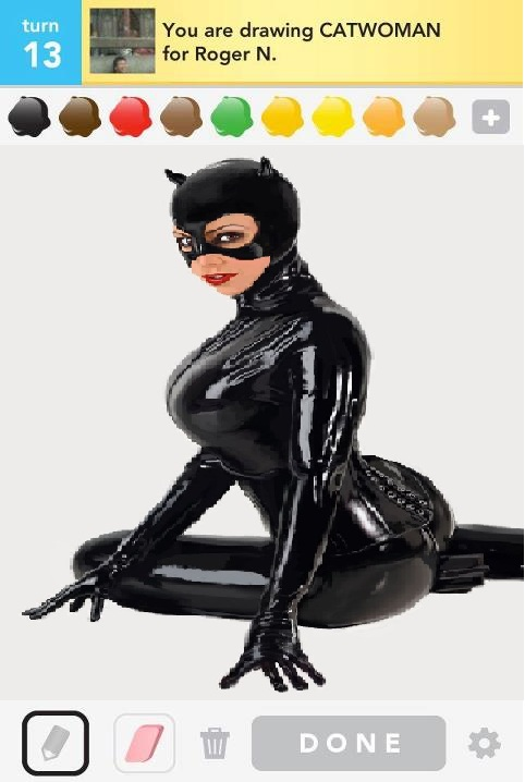 Draw Something screenshot of Catwoman