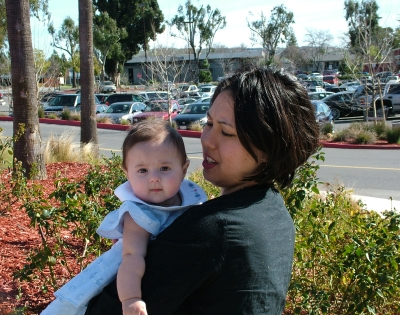 Kimi and Sophie at Eastridge Mall in San Jose, March 2, 2008; photograph by Jose Montes de Oca