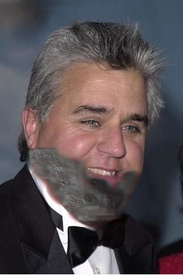 [Leno with 'beard']