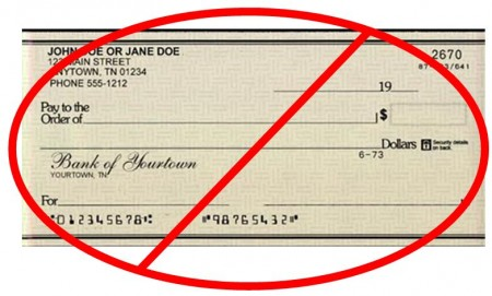 Image: A generic check crossed out