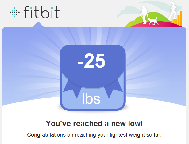 FitBit: 25 pounds lost