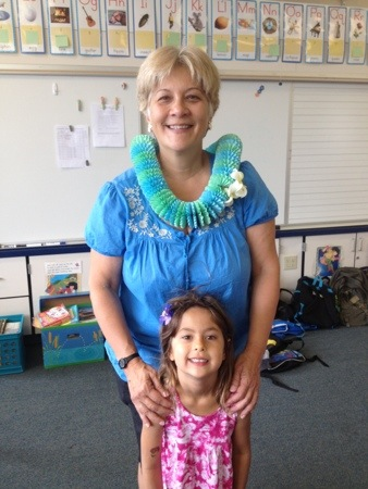 Sophie and her Kindergarten teacher