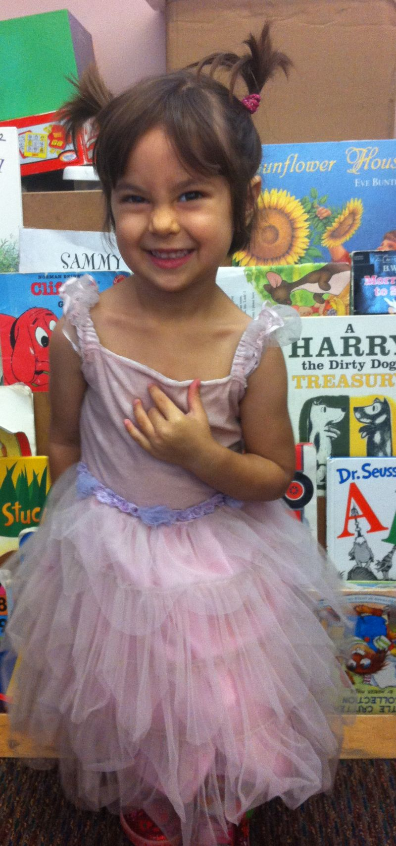 Sophie in 2011, at her pre-school