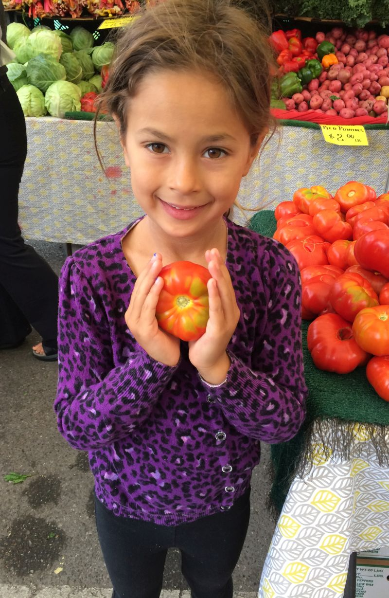 Sophie in 2014, at the Mountain View Farmer's Market again